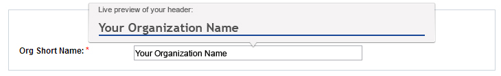 Live preview of the input the user types