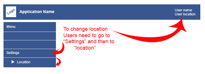 Changing location in previous versions is a two clicks process